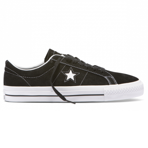 Cons One Star Pro Shoes Black White