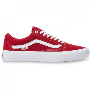 Vans Old Skool Pro Shoes Red White
