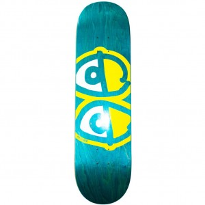 Krooked Skateboards Team Eyes Deck, Aqua