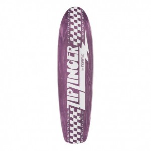 Krooked Skateboards Zip Zinger Deck, Purple