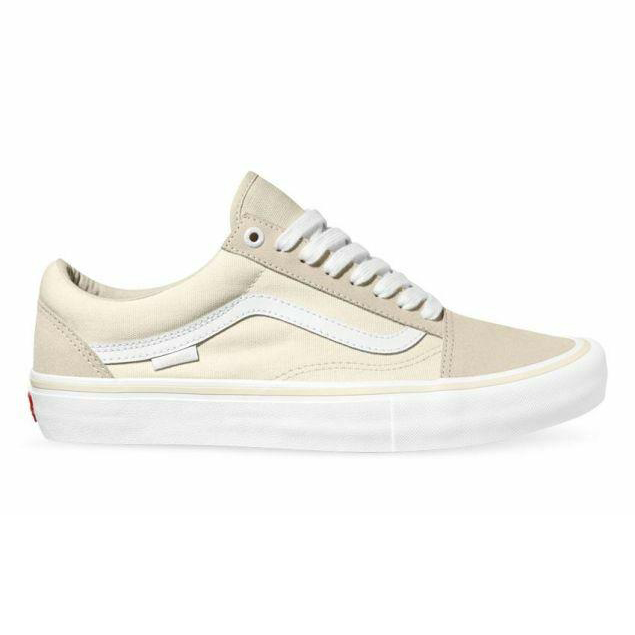 Vans Old Skool Pro Shoes – Marshmallow/White
