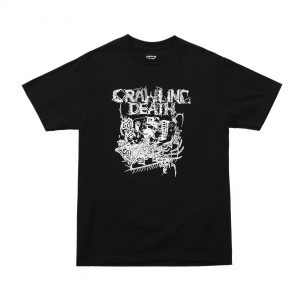 Crawling Death Parasite Skull Tee Black