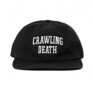 Crawling Death College Logo Cap Washed Black
