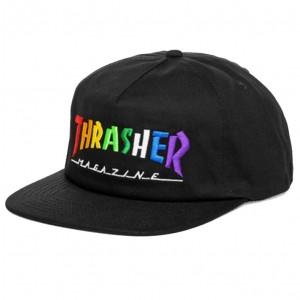 Thrasher Rainbow Mag Snapback Black