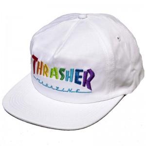 Thrasher Rainbow Mag Snapback White