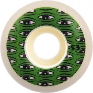 Toy Machine Rollen All Seeing 100a White Green Vorderansicht 0134854 600x600