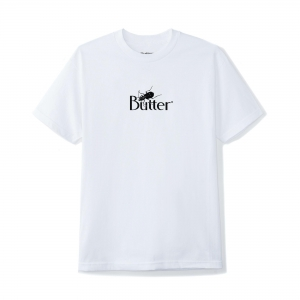 Butter Goods Bug Classic Logo Tee White 1