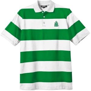 Striped Polo Tee - Green/White