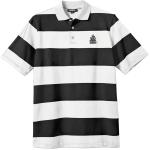 Striped Polo Tee - Black/White