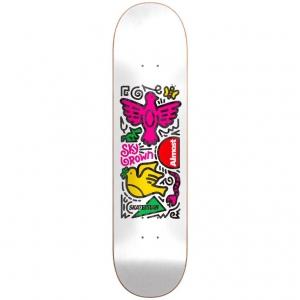 Almost Skateistan Sky Doodle White Skateboard Deck 768x