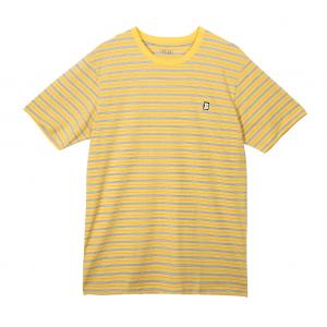 Capital B Stripe Tee - Yellow