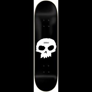 Zero Single Skull 825 Skateboard Deck Black White