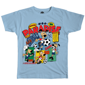Paradise Pup Tee - Light Blue