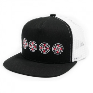 Cross Subsequent Snap Back Trucker - Black/White