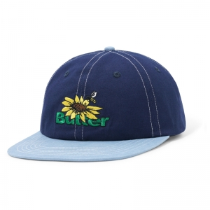 Sunflower 6 Panel Cap - Navy/Washed Blue