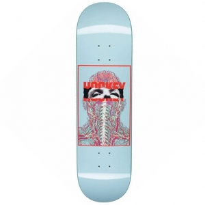 Hockey Skateboards John Fitzgerald Nerves Blue Skateboard Deck 8 5 P53677 126936 Medium