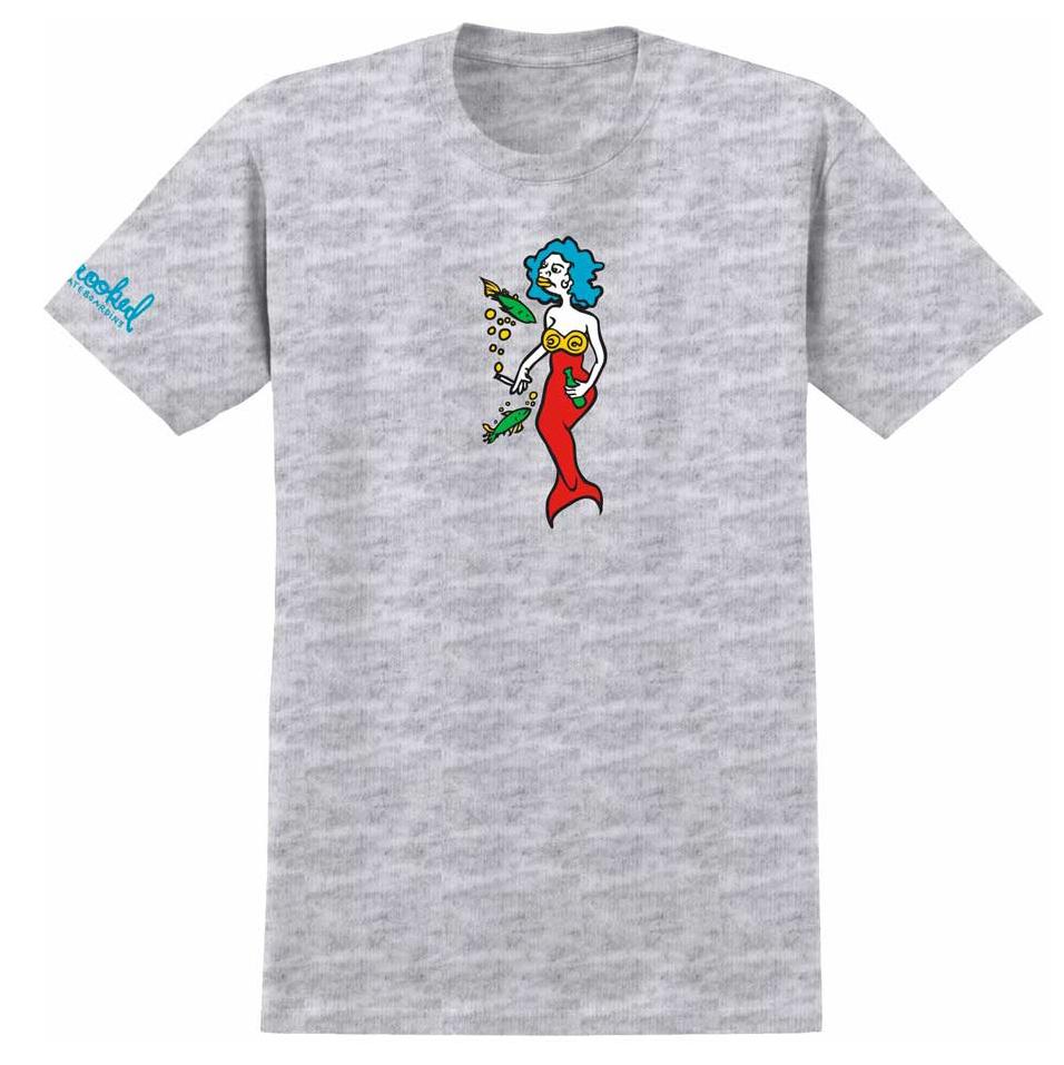 Krooked Mermaid Tee Ash Heather 1024×1024