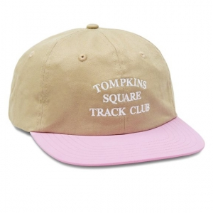 Track Club Cap - Tan/Pink