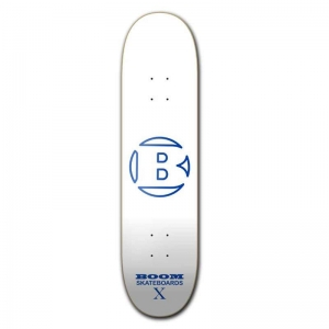 Boom Skateboards - Boom Logo Deck - White/Blue