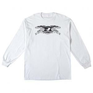 Basic Eagle Longsleeve Tee - White/Black