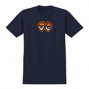 Eyes LG Tee - Navy/Orange
