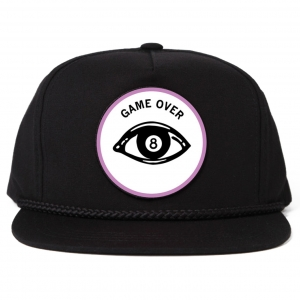 Game Over embroidered Patch Cap - Black