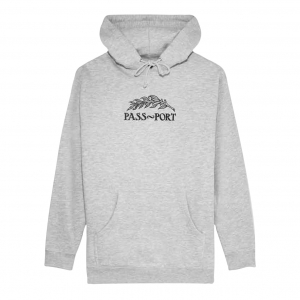 Quill Embroidery Hoodie - Heather Grey