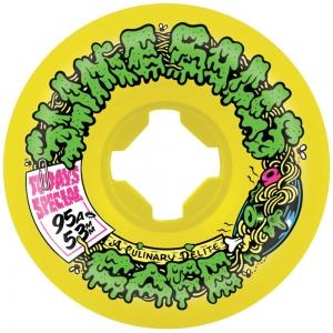 Santa Cruz Slime Balls Double Take Cafe Mini Vomits 53mm 95a Yellow Black