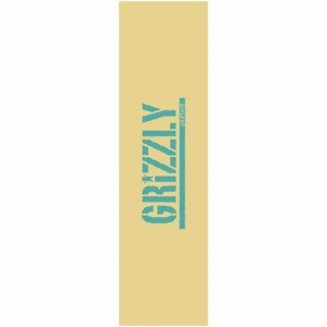 Grizzly Stamp Griptape - Cream/Blue