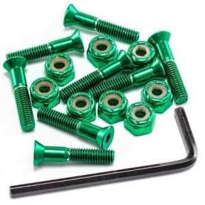 """Anodised Green Bolts 1"""""""