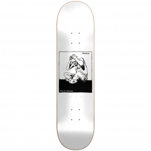 Stressed Popsicle Deck - White