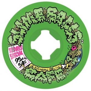 1024x1024 Slime Balls Double Take Cafe Vomit Mini Green Black Skateboard Wheels 54mm X 95a 1