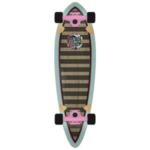 Updated, smaller pintail shape on 9 ply deck with Bullet 180mm RKP trucks and 60mm Santa Cruz branded Slime Balls wheels
