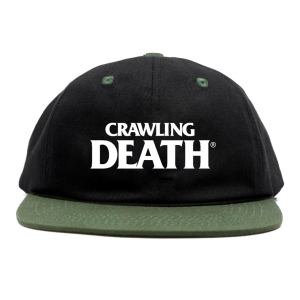 Crawling Death - Two Tone Embroidered Cap - Black/Green